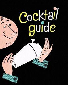 Vintage Cocktail Guide Cover Art shaker, bartender  #happyhour