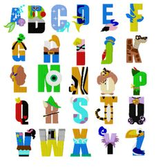 Character Letters FILLED A through Z Machine by AppliquesByMe