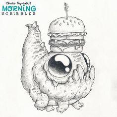 Off to the cheeseburger eatin' spot! #morningscribbles #cheeseburger