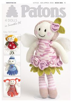 Fairy Dolls Book by Patons - Discover more Books by Patons at LoveCrafts. From knitting & crochet yarn and patterns to embroidery & cross stitch supplies! Shop all the craft materials you need to start your next project. Knitting For Kids, Knitting Projects, Baby Knitting, Crochet Projects, Sewing Projects, Free Knitting, Knitting Toys, Knitting Supplies, Knitted Baby