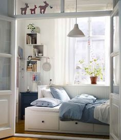 Totally in love with this IKEA bed..so retro and can be a double bed, as well as single, saw it few month ago and still thinking how to bring to my home :)