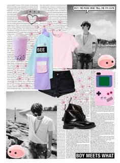 """Boy Meets What - Jin Edition"" by wonders-of-the-world ❤ liked on Polyvore featuring Oris, Monki, Levi's and Dr. Martens"