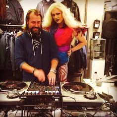 Me and the lovely Peter Stormare #peterstormare #DJ #Gretchen #Fashionista