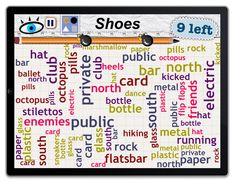 Word Mess: Find 9 types of shoes!