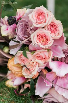 Pink Bouquet, Mauve Bouquet, Purple Bouquet, Soft Pink Bouquet, Whimsical Wedding Inspiration | ElegantWedding.ca