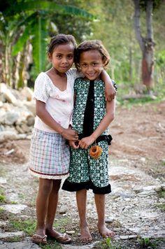 Timor-Leste (East Timor) girls. (Timor-Leste, Southeast Asia)