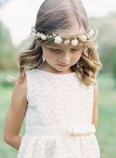 Sweet flower girl hair: http://www.stylemepretty.com/2015/03/23/green-gables-whimsical-outdoor-wedding/ | Photography: Joey Kennedy - http://joeykennedyphotography.com/