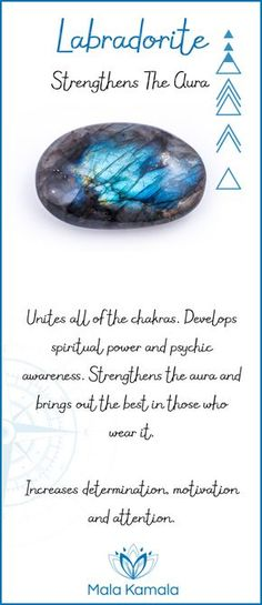 Pin To Save, Tap To Shop The Gem. What is the meaning and crystal and chakra healing properties of labradorite? A stone for strengthening the aura. Mala Kamala Mala Beads - Malas, Mala Beads, Mala Bracelets, Tiny Intentions, Baby Necklaces, Yoga Jewelry,