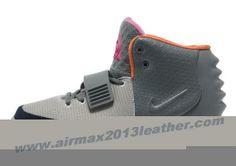 Nike Air Yeezy II Men Shoes Gray Orange 2013