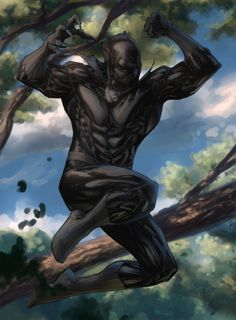 Black Panther (Marvel Comics) fan art Don't forget to check out theoriginal lineart by It's weird how much of a difficulty I have to switch between colo. Jumping T'Challa By Spiderguile - colors Black Panther Images, Black Panther Storm, Panther Pictures, Black Panther Art, Black Panther Marvel, Marvel Fan Art, Marvel Comics Art, Marvel Heroes, Marvel Avengers