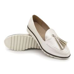Shoe Type: Loafers Gender: Women Season: Spring, Summer, Autumn Occasion: Casual, Daily Toe: Round Toe Closure Type:Slip On Heel Height: Platform Height: Color: Beige Material: Upper Material: PU Outsole Material: Rubber Uganda, Beige, Sierra Leone, Georgia, Loafers Online, Casual Loafers, Goods And Services, Fashion Flats, Loafers For Women