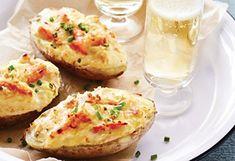 Pelures de pommes de terre au crabe