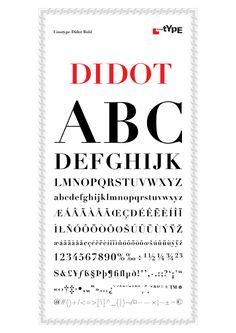 Muestrario de la tipografía Didot