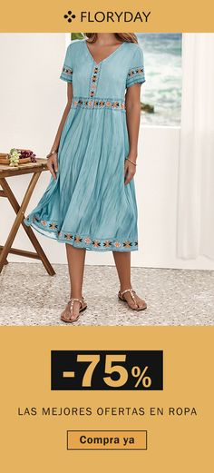 ¿A quién no le gustaría ponerse este vestido casual?