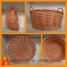 Basketry work dyed with tea and coffee