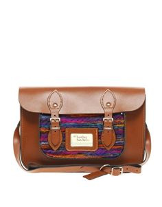 "The Leather Satchel Company 12.5"" Aztec Pocket Satchel"