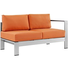 Shore Right-Arm Corner Sectional Outdoor Patio Aluminum Loveseat