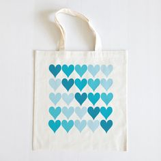 Blue Ombre Wedding Tote