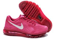 Red White Nike Air Max 2014 Women\\u0026#39;s Running Shoes #