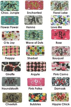 Get a car tag at From the Heart. License Plate Decor, License Plate Designs, Monogram License Plate, Car License Plates, Custom Front License Plates, Vine Monogram, Personalized License Plate Ideas, Personalized Car Tags, Sheepskin Car Seat Covers