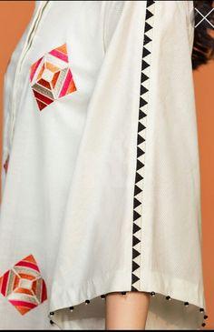 Kurti Sleeves Design, Kurta Neck Design, Sleeves Designs For Dresses, Dress Neck Designs, Fancy Dress Design, Stylish Dress Designs, Simple Pakistani Dresses, Pakistani Dress Design, Stylish Dresses For Girls