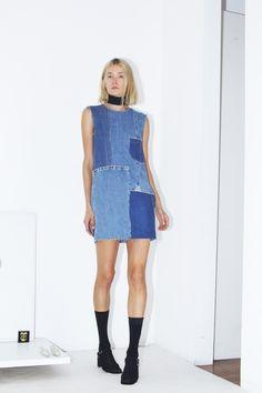 #DIY Inspiration // Oversized Patchwork Dress + Raw Hems  Assembly New York Spring 2016 Ready-to-Wear Fashion Show