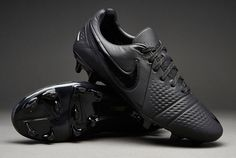 """Nike-Soccer-Shoes-Nike-CTR360-Maestri-III-FG-""""Lights-Out""""-Mens-Soccer-Cleats-Black"""