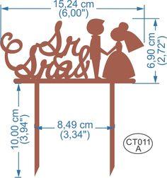 Cake Topper Sr & Sra. Pedidos/InquirIes to: crearcjs@gmail.com