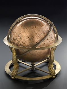 Sphere of the heavens    Clock-driven Chinese celestial globe, 1830.    © Science Museum    This celestial globe has an internal clockwork drive so that it turns to represent the motion of the stars. On the surface you can see the stars grouped according to Chinese constellations. The Milky Way is shown by a band of dots, and five patches represent star clusters.