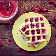 Sugar Cookie Waffles with a Berry Glaze by @realsustenance