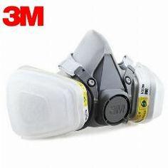 [ 20% OFF ] 3M 6200+6002 Half Facepiece Reusable Respirator Respiratory Protection Niosh Standard Gas Cartridges Acid Gas Mask F0000