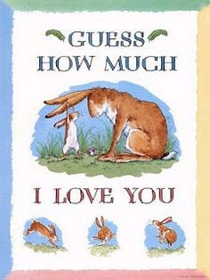 Guess How Much I Love You Lesson Plan-- printable matching game!