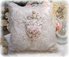 Gilded Opulence Square Pillow - Victorian Pillows - Roses And Teacups