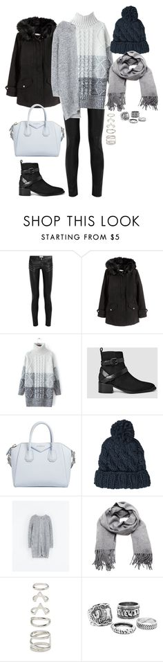 """Untitled #379"" by charstauden ❤ liked on Polyvore featuring Yves Saint Laurent, AllSaints, Givenchy, Topshop, Zara, Acne Studios and Forever 21"