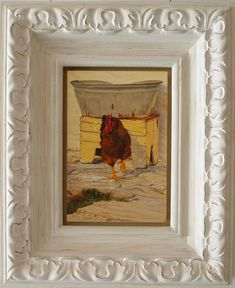 Lizelle Kruger | Die Lot Van Die Hoender - for sale | StateoftheART South African Artists, Online Art Gallery, Oil On Canvas, Contemporary Art, Original Paintings, Van, Birds, Frame, Artwork