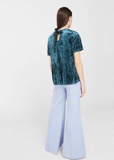 Velvet blouse | MANGO
