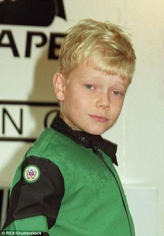 Alfie Allen at a go karting raceway in Clapham in 1994