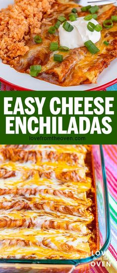 Everyone needs a good Cheese Enchiladas recipe! Learn how to make enchiladas and impress your family and friends with this delicious Tex-Mex dinner. dinner mexican Easy Cheese Enchiladas At Home Easy Cheese Enchiladas, How To Make Enchiladas, Best Enchiladas, Mexican Enchiladas, Chicken Enchiladas, Mexican Dinner Recipes, Mexican Dishes, Mexican Desserts, Sauces
