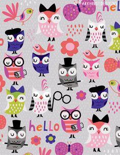 owl pattern ♥ JParkhurst Designs