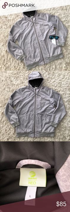 ‼️RARE‼️Adidas NEO Full-Zip Hooded Jacket This HARD TO FIND Adidas NEO Full-Zip Hooded Jacket is in excellent condition!  It is hooded with 3 front pockets, weather resistant and fully lined.  Great for any season!!! adidas Jackets & Coats