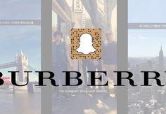 Burberry encourage ses clients à utiliser Snapchat