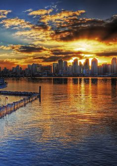 San Diego Skyline Sunrise from the Bay