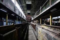 Abandoned Canadian National Railway Diesel Shop (Fort Erie, ON) by jerm IX, via Flickr
