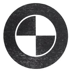 BWM logo | #logos #emblems #minimalistic #branding #blackandwhite #circles #bmw