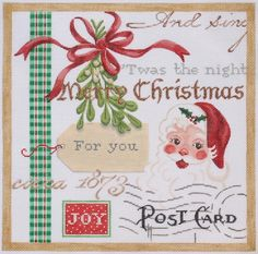 Kate Dickerson Needlepoint Christmas collage #1