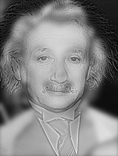近くから見るとアインシュタイン。遠くから見るとマリリンモンロー。不思議だ。