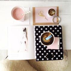 Planning & prepping! #spring #polkadots #pink