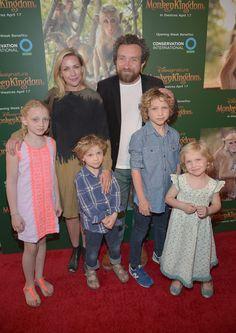 Eddie Marsan with wife Janine Schneider-Marsan and four children