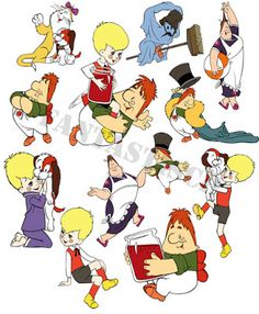 Играем до школы: Малыш и Карлсон Отрисованные картинки
