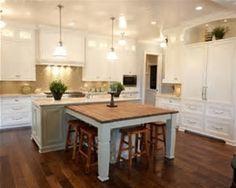 Image result for images of handscraped heritage hickory kitchen